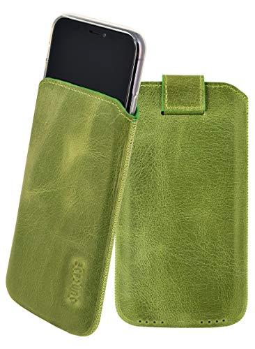 Suncase ECHT Leder Tasche kompatibel mit iPhone 11 Pro Max (6.5