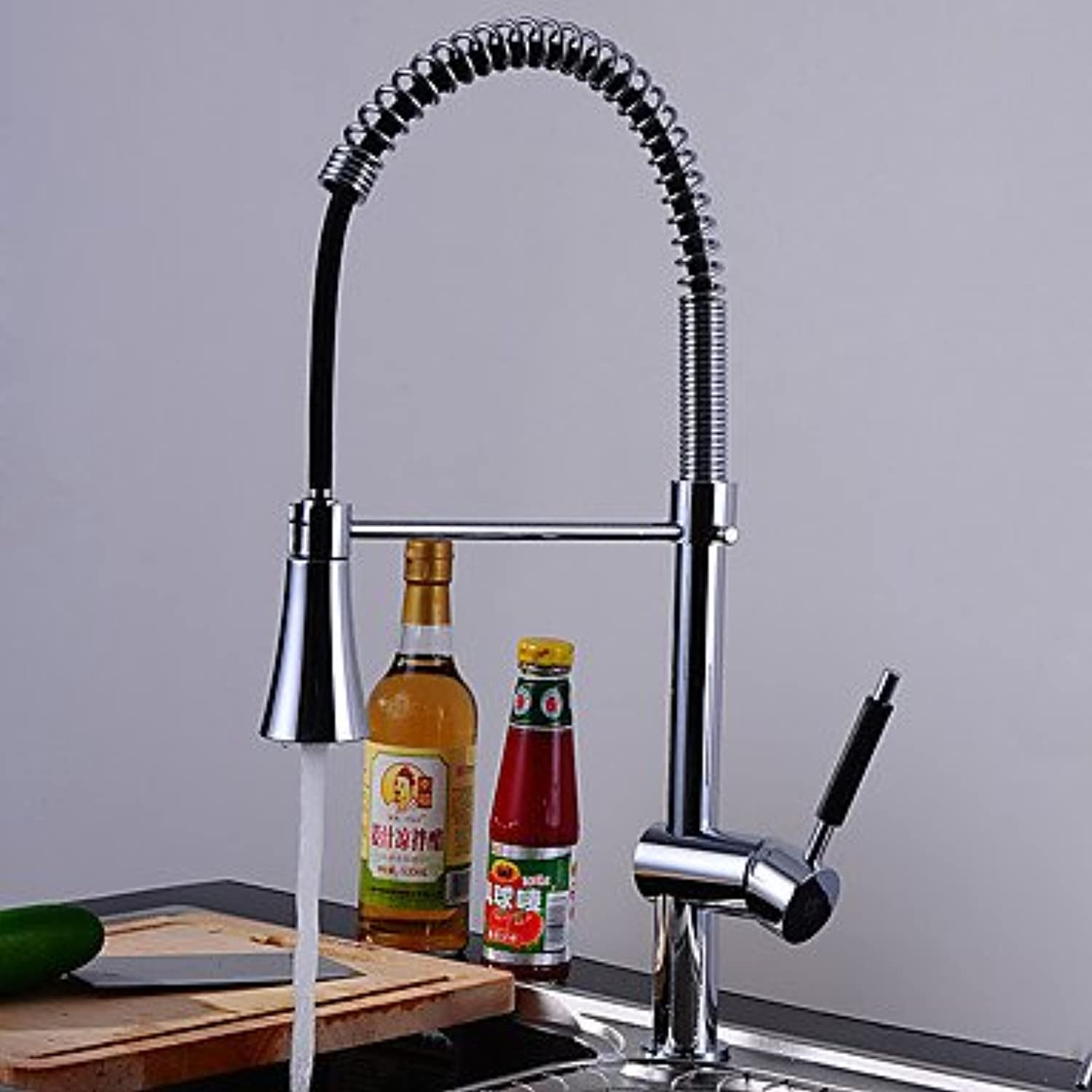 Brass Chrome Single Handle One Hole redatable Kitchen Sink Faucet