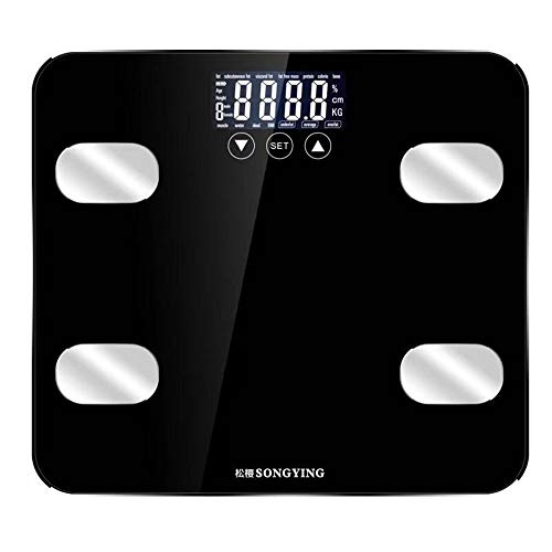 ZUHANGMENG Weighing Scale, Smart Digital LCD Screen BMI Fat Scale, 0.2-150KG, Ultra Slim High Precision Sensor Weight Scale, Household Body Health Monitor