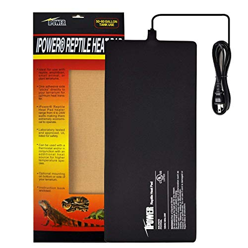 iPower 8 by 18-Inch Reptile Heat Mat Under Tank Heater Terrarium Heating Pad Ideal for Spider Snake Tarantula Hermit Crab Turtle