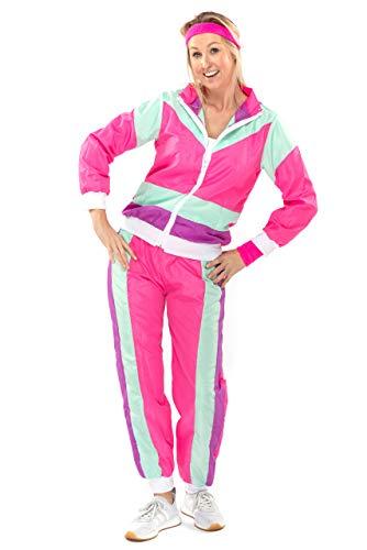 Original Replicas 80er Jahre Shell Suit Retro Trainingsanzug mit Hose New Kids für Frauen XL - XS bis 3XL
