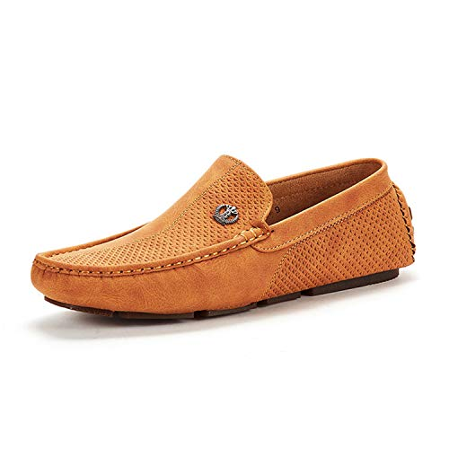 Bruno Marc Men's 3251314 Tan Penny Loafers Moccasins Shoes Size 10.5 M US