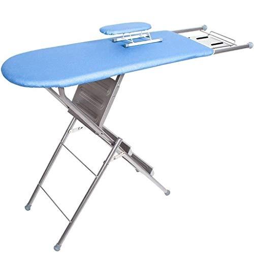 Muy conveniente De gran tamaño tabla de planchar, Inicio de escalera Tabla de planchar gran capacidad de carga antideslizante plancha de vapor Rest, Gris / Azul 125 * 34 * 85 cm suministros de lavande