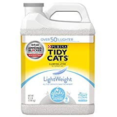 Two (2) 8.5 lb. Jugs - Purina Tidy Cats Light Weight, Low Dust, Clumping Cat Litter, LightWeight Glade Clear Springs Multi Cat Litter Low dust for a clean, easy pour Ammonia Blocker prevents ammonia odor from forming for at least two weeks when used ...