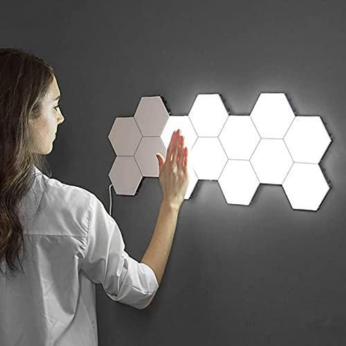 El Panel De La Lámpara De Pared Hexagonal De La Luz Inteligente De Empalme Led, Lámpara De Sensor Táctil Decorativo Del Táctil Del Panal Modular Led De Alto Brillo Para La Iluminación De La(Size:20pc)