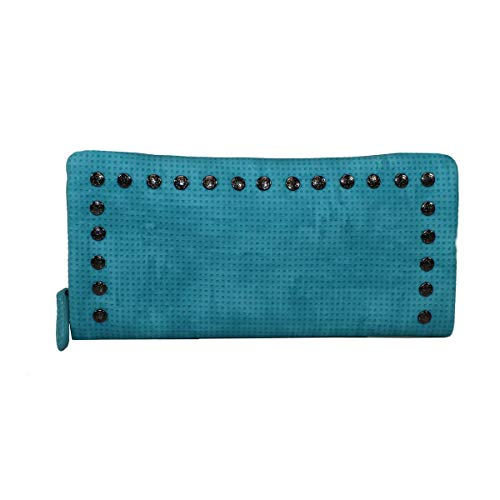 Glüxklee Damen Geldbörse mit Nieten (Aqua)