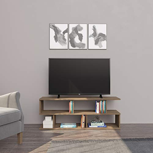 Homemania Mueble para TV, aglomerado de melamina, Nogal