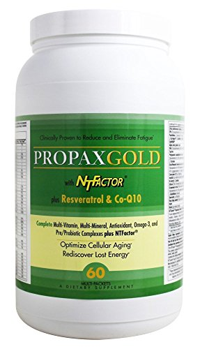 Vitamin and Mineral Propax Gold With NTFactor® - Natural Energy Booster For Chronic Fatigue - Multi-vitamin and Multi-mineral Supplement With Amino Acids, Antioxidants & Fatty Acids And More - 60 Pack