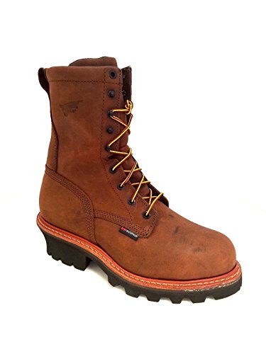 Red Wing Men's Steel Toe Logger Work Boots 4420 (14M) Brown