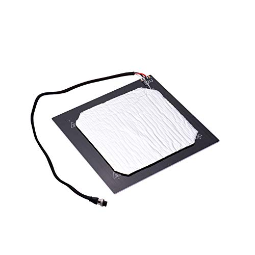Fesjoy Heating Bed, 12V 3D Printer Heated Bed Hotbed Heating Platform Aluminum Plate 310 * 310mm with Hotbed Wire Insulation Connton Aviation Connector Compatible with CR-10/CR-10S 3D Printer