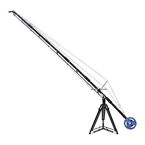 PROAIM 21ft Alphabet Professional Travel Jib Crane Tripod Stand for DSLR Video Camera Up to 15kg/33lbs | Convertible to 18ft, 15ft & 12ft + Carrying Bag (P-A21-JS)