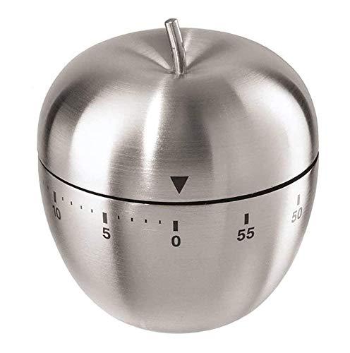 YFSEOS Temporizador Cocina Mecanico Cronometro Cocina 60 Minutos Temporizador Timer Cocina Acero Inoxidable Reloj Temporizador Alarma Forma de para Estudio Oficina Dormitorio Sala Cocina (Manzana)