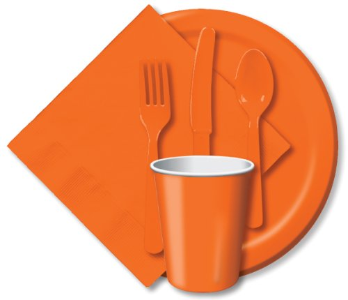 Orange Party Assorted Cutlery Set