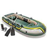 Huangjiahao Kayak Kayak Rubber Boat Barco Inflable for Tres Personas Espesamiento Inflable Barco de Pesca Inflable al Aire Libre para Principiantes y Pesca (Color : Green, Size : 295x137x43 cm)