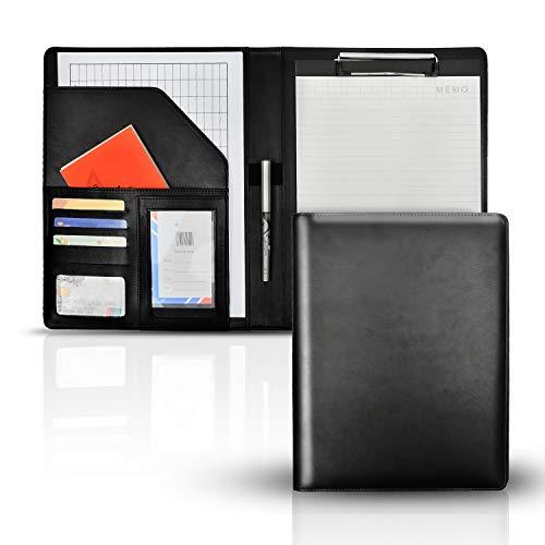 バインダー A4 クリップボード クリップファイル 軽量 高級感 360度折り返し 多機能フォルダー 書類契約フォルダー カード名刺入れ 事務用品 オフィス 入職プレゼント