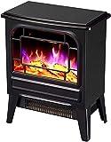 El calentador de estufa eléctrico de la chimenea eléctrica independiente portátil, el registro eléctrico de la estufa eléctrica de la estufa eléctrica interior del efecto de fuego, el fuego eléctrico
