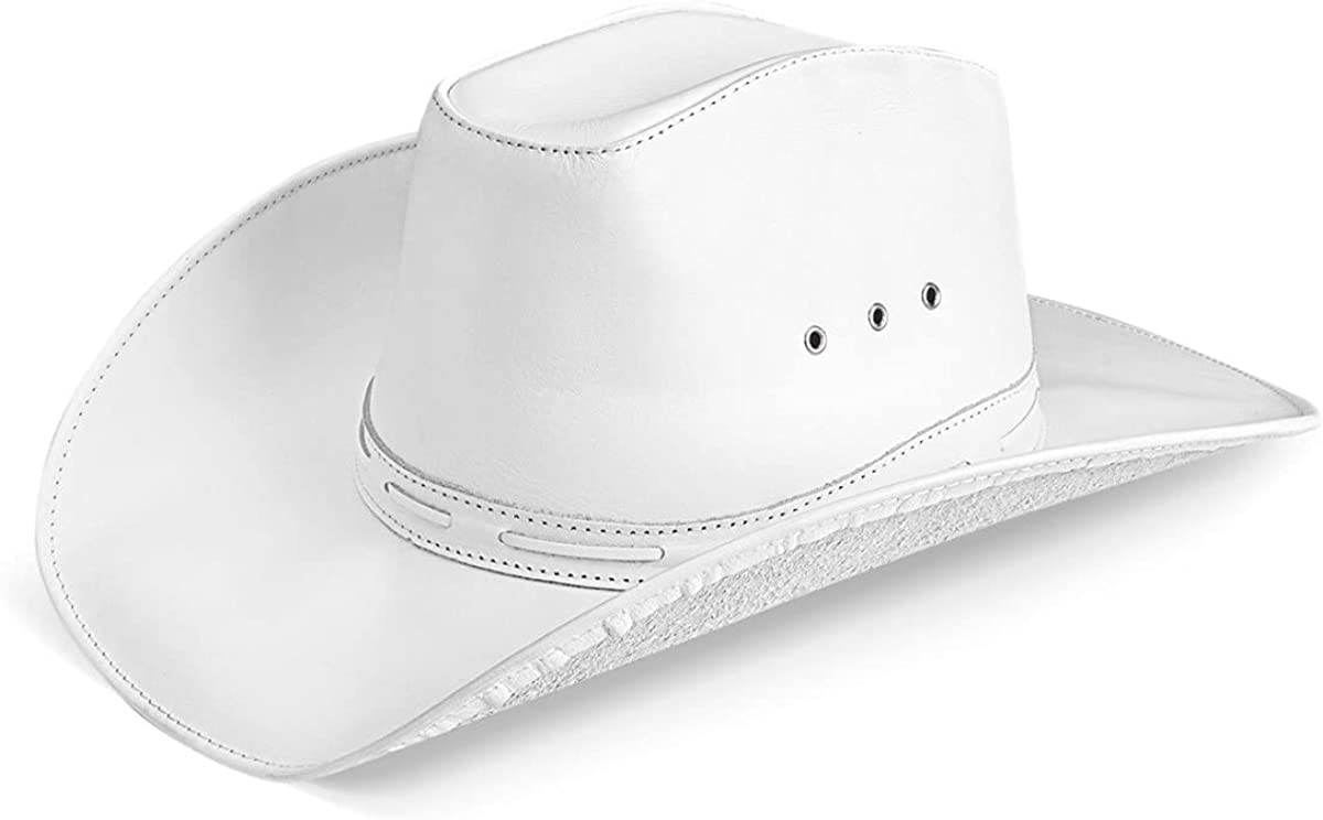 Cowboy Hat Western Real Leather for Mens and Womens American Country Man Style