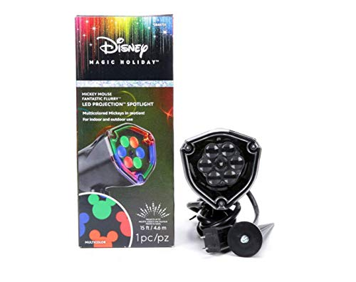 whirl motion Disney Mickey Mouse Ears LightShow Swirling Multicolor LED Christmas Spotlight Projector