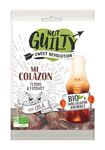 Not Guilty - Bonbons Gélifiés Mi Colazon Saveur Cola - Bonbons Vegan et Bio, Sans Gélatine Animale - 1 Sachet de 100g