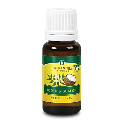 TheraNeem Neem Tooth & Gum Oil | Supports Healthy Teeth & Gums with CoQ10, Coconut Oil & Supercritical Extracts | 0.5oz