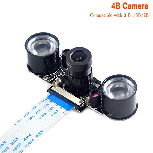 Makerfocus Raspberry Pi Camera Night Vision Camera Adjustable-Focus Module 5MP OV5647 Webcam Video 1080p for Raspberry-pi 2 Raspberry-pi 3 Model B Model B+
