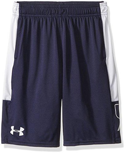 Under Armour - Fitness-Shorts für Jungen in Midnight Navy (410)/White, Größe Jugend Medium
