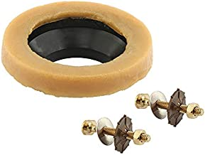 Prime Line MP56533 Universal Toilet Wax Ring with Bolts, Includes Black Rubber Funnel, Pack of 1