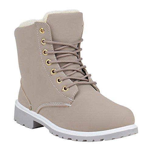Unisex Damen Herren Warm Gefütterte Damen Worker Boots Stiefeletten Outdoor Schuhe 129286 Hellgrau Weiss Gold 39 Flandell