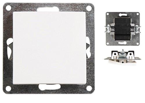 VARIATION Lichtschalter Schalter Taster Wechsel-Serien-Schalter Jalousie-Schalter Dimmer Antennen-Dose ISDN-Steckdose für RJ45 + RJ11 (Unterputz-Wechselschalter (ohne Rahmen!))