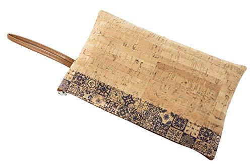 SFY Bolso porta todo de corcho natural fabricado a mano en E