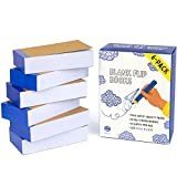"""Premium Blank Flip Books for Kids and Adults + Bonus eBook – 6 Pack Flip Book Animation Paper for Sketching, Comics and Cartoons, 5.5""""x2.4"""", 180 Pages (90 Sheets), Thick Artist-Quality No Bleed Paper"""