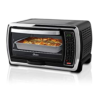 Oster Large Capacity Countertop 6-Slice Digital Convection Ovens Toaster, Black/Polished Stainless make