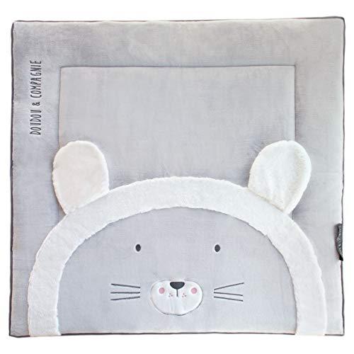 Doudou et Compagnie Tapis de parc 100 x 100 cm - Collection Tapidou - motif Lion
