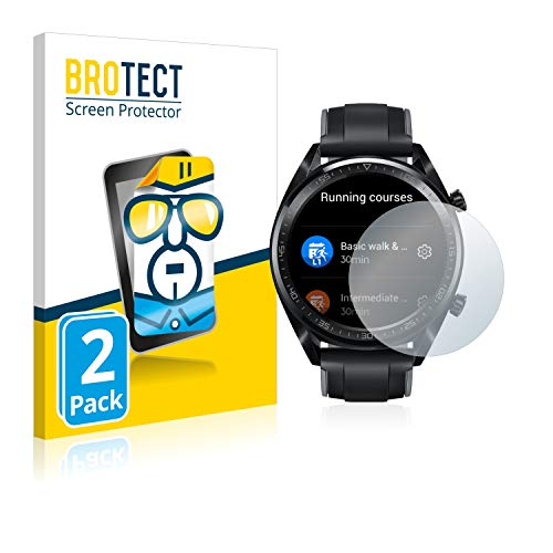 BROTECT Schutzfolie kompatibel mit Huawei Watch GT/GT Active (2 Stück) klare Bildschirmschutz-Folie