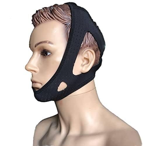 Anti Snoring Chin Breathable and Adjustable Chin Strap for Mouth Breathers,...