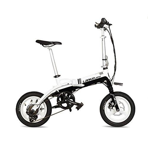 Extrbici A6pieghevole mini bicicletta elettrica 35,6cm telaio in lega di alluminio 240W motore del mozzo batteria al litio 36V 8.7ha Hiding rimovibile Shimano 7velocità ingranaggi pieghevole e-bike doppi freni a disco meccanici