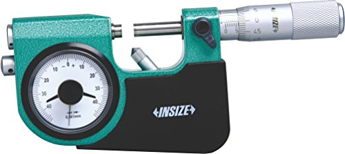 INSIZE 3332-100 - Micrómetro indicativo (75 mm-100 mm, graduación de la cabeza del micrometro 0,002 mm, graduación del indicador de la esfera, 0,001 mm)