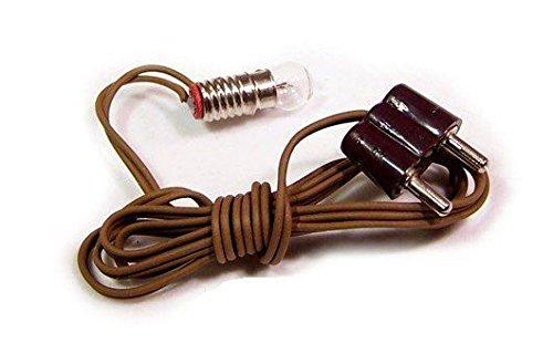 Dekoprojekt Glühbirne klar E5,5 mit Kabel und Stecker. Länge 45 cm. Für 3,5V Trafos.