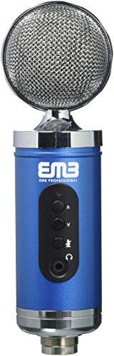 EMB EMC960 Professional High-Performance Multi-Pattern Large Diaphragm Condenser Project Studio Microphone BLUE