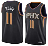 K&A Camiseta Ricky Rubio Phoenix Suns Negra, Camiseta Ricky Rubio Phoenix Suns Statement Edición Swingman para Hombre & Niño (Negra, Niño XL)