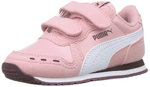 PUMA Cabana Racer SL V Inf, Zapatillas Unisex Niños, Bridal Rose White-Vineyard Wine, 20 EU