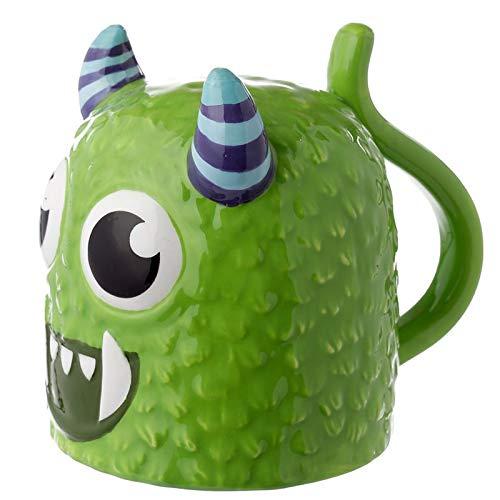 Monstarz potwór zielony do góry nogami ceramiczny kubek