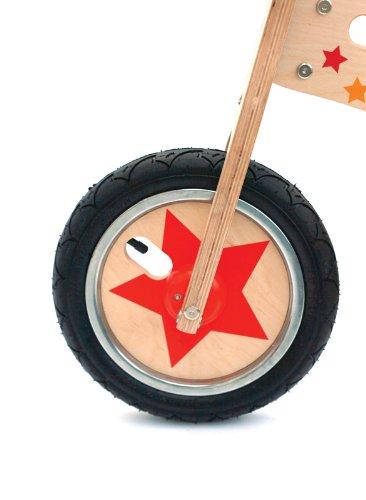 Pootle bicicleta de equilibrio de madera con soporte