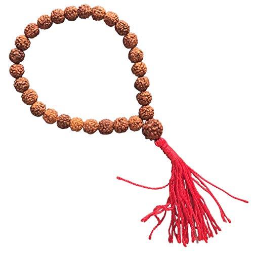 The Bo Tree 108 Perline Mala commercio equo e solidale Rudraksha Mantra, 10 mm, realizzate a mano in Nepal Buddha buddista meditazione indù e N / A, colore: Marrone, cod. .