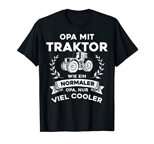 Herren Opa mit Traktor - nur cooler- Lustiges Opa Opi Großvater T-Shirt
