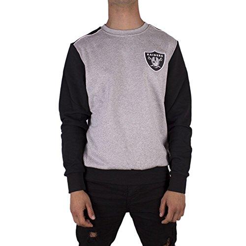 Majestic Sweatshirt – NFL Oakland Raiders Tobias Small Logo grau/schwarz Größe: S (Small)