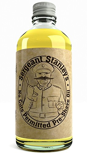 Sergeant Stanley's 'No Cuts Permitted' Oil Pre-Shave-Öl Großbritannien Gemacht Mit Natürlichen und Organischen Bestandteilen 100ml