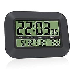 HeQiao Simple Digital Wall Clock (Night Black)