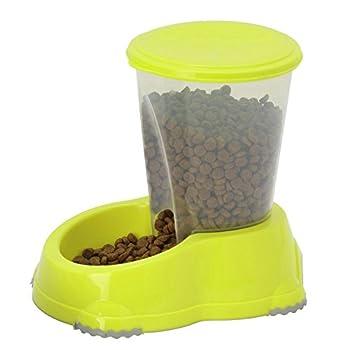 CatCentre® Distributeur automatique de nourriture sèche pour chat Jaune 1,5 l