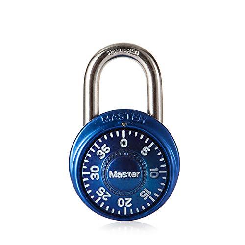 Master Lock 1533EURD Voreingestelltes Kombinations-Vorhängeschloss, Zufällige Farbe, 5,7 x 4 x 2,5 cm